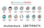 vector infographic symptoms of... | Shutterstock .eps vector #1887598474