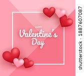 valentine's day sale banner... | Shutterstock .eps vector #1887607087
