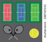 tennis icons set | Shutterstock .eps vector #188765141