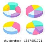 collection 3d pie diagrams  pie ...   Shutterstock .eps vector #1887651721