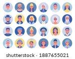 people avatar bundle set. user... | Shutterstock . vector #1887655021