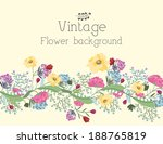 retro flower background concept.... | Shutterstock .eps vector #188765819