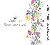 retro flower background concept.... | Shutterstock .eps vector #188765825