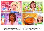 video bloggers set. beautiful...   Shutterstock .eps vector #1887659914