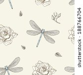 Hand Drawn Dragonflies And...