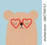 cute seamless vector... | Shutterstock .eps vector #1887709717