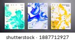 abstract acrylic banner  fluid... | Shutterstock .eps vector #1887712927
