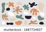 contemporary abstract shape set.... | Shutterstock .eps vector #1887724837