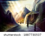 Fantasy Environment With Bright ...