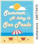 summer holiday poster design ... | Shutterstock .eps vector #188773475