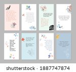 set of abstract art templates.... | Shutterstock .eps vector #1887747874