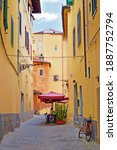 Characteristic Narrow Alley In...