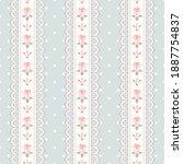 seamless polka dot vintage... | Shutterstock .eps vector #1887754837