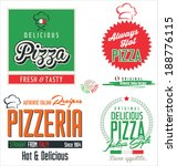 pizza labels | Shutterstock .eps vector #188776115