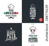 pizza labels | Shutterstock .eps vector #188776139