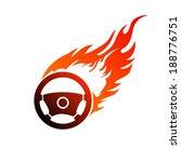 reddish orange symbol burning... | Shutterstock .eps vector #188776751