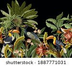 border with birds and tropical... | Shutterstock .eps vector #1887771031