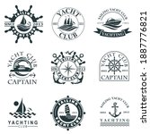 Collection Of Yacht Club Labels ...