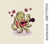 Cute Octopus Character Playing...