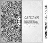 vintage vector pattern. hand... | Shutterstock .eps vector #188778431