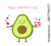 happy valentines day greeting... | Shutterstock .eps vector #1887796027