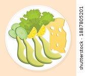 delicious  fresh  healthy...   Shutterstock .eps vector #1887805201