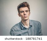 handsome man looking away | Shutterstock . vector #188781761
