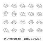 set of human eyes line icon.... | Shutterstock .eps vector #1887824284