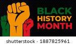 black history month. african... | Shutterstock .eps vector #1887825961