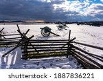 Civil War Cannons In The Snow...