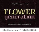 vintage awesome alphabet... | Shutterstock .eps vector #1887842854