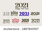 happy new year logo. number... | Shutterstock .eps vector #1887844507