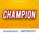 champion text effect with bold... | Shutterstock .eps vector #1887864337