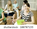 students studying in classroom | Shutterstock . vector #188787155