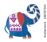 cartoon bright  elephant  cute... | Shutterstock .eps vector #188787341