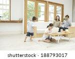 family relaxing in living room | Shutterstock . vector #188793017