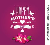 poster happy mother's day... | Shutterstock .eps vector #188794217
