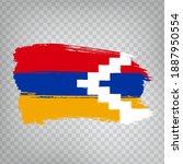 flag republic of artsakh brush...
