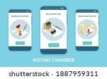 notary chamber mobile app...   Shutterstock .eps vector #1887959311