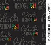 black history month  seamless... | Shutterstock .eps vector #1887960844