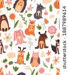 Vintage Floral Seamless Pattern ...