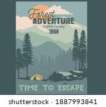 vector camping illustration and ... | Shutterstock .eps vector #1887993841