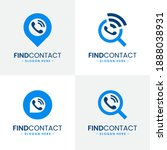 set of find contact logo design ...