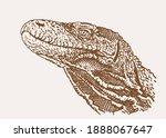 vector sepia illustration of... | Shutterstock .eps vector #1888067647