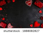 Frame Of Red Gifts  Hearts And...