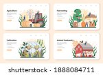 agriculture web banner or... | Shutterstock .eps vector #1888084711
