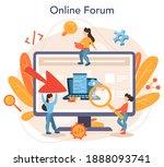 back end development online... | Shutterstock .eps vector #1888093741