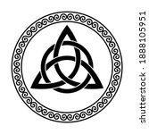triquetra with circle within a... | Shutterstock .eps vector #1888105951