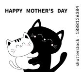 happy mothers day. cat holding... | Shutterstock . vector #1888126384