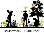 gardener. all elements and... | Shutterstock .eps vector #188813921